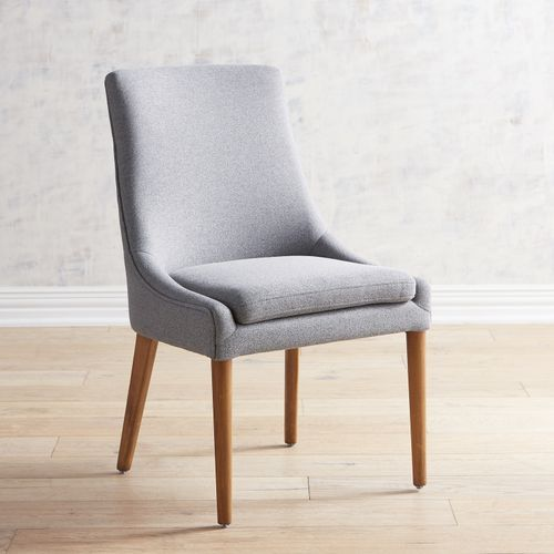 Darrin Gray Dining Chair With Java Wood Gray Dining Chairs