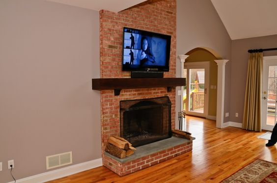 Tvs Angeles And Brick Fireplaces On Pinterest