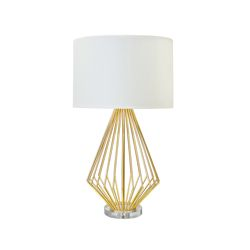 Truman Gold Leaf Table Lamp by Worlds Away TRUMAN G