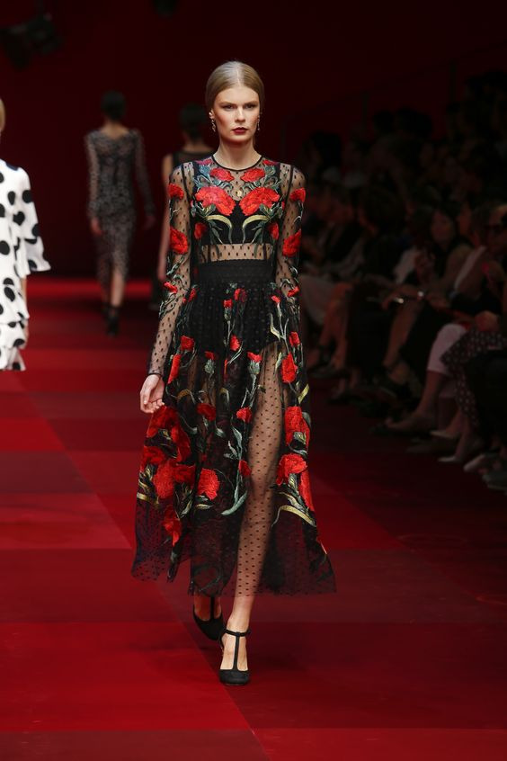 Image result for dolce and gabbana milan show