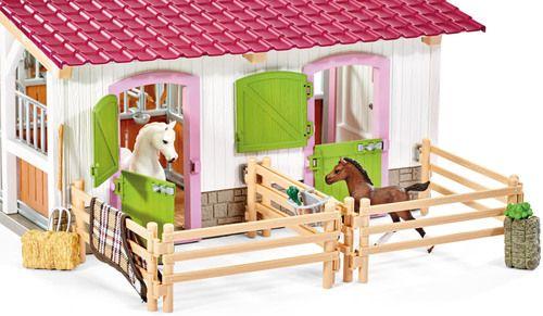 Schleich Horse Club Reiterhof Mit Reiterin Und Pferden Spielzeug Kaufen Geschenkideen Kinder Reiten