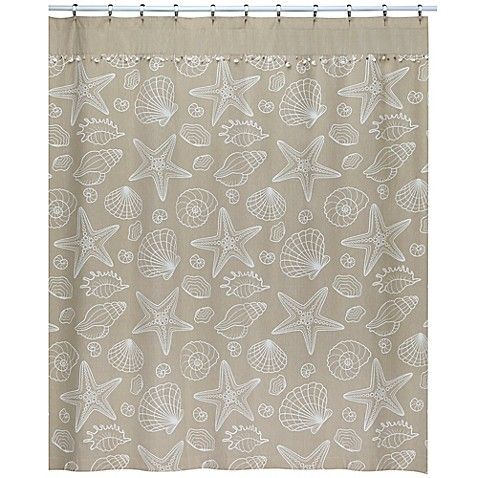 Ipanema Shower Curtain In Natural Coastal Shower Curtain Seashell Shower Curtain Curtains