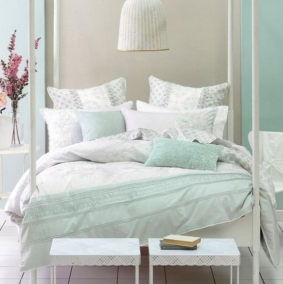Hunting Bedroom Decor Mint Green Bedroom Curtains Bedroom Chairs Kids Black And Gold Bedroom Decor: Lovely Mint And Cream