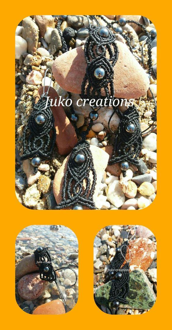Set macrame  Bracalet  Earings Neck lace  By Juko creations