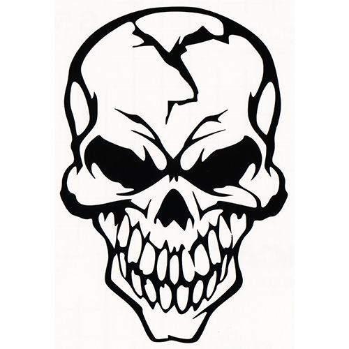 Skull Laptop Car Truck Vinyl Decal Window Sticker PV348 Decals