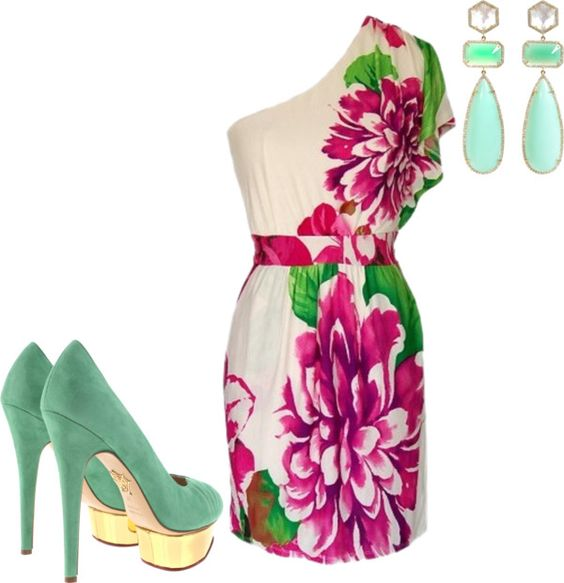 garden party, created by aidachick on Polyvore