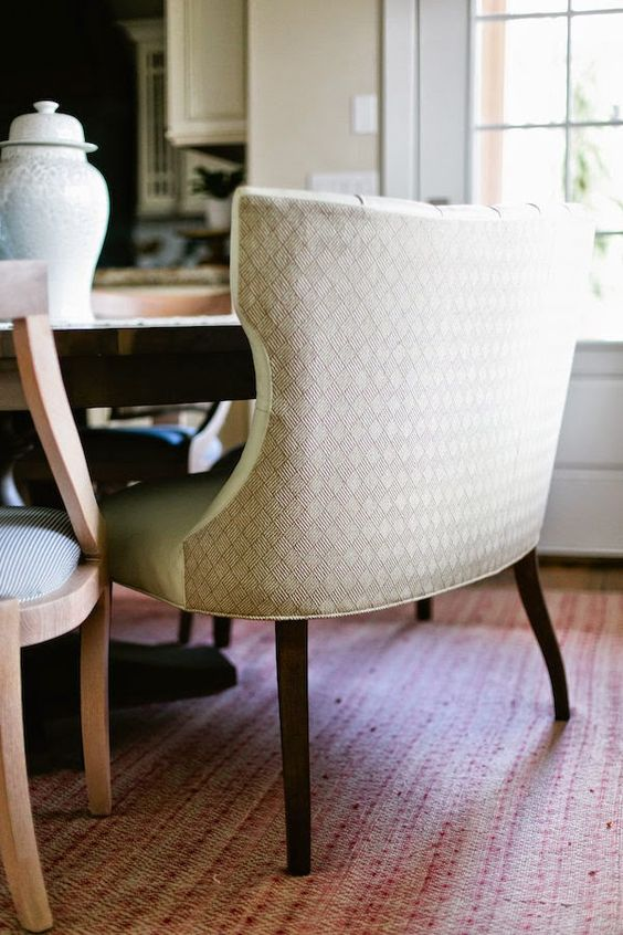 curved freestanding banquette; wipeable front, textured back - The Riverside House -  Kitchen