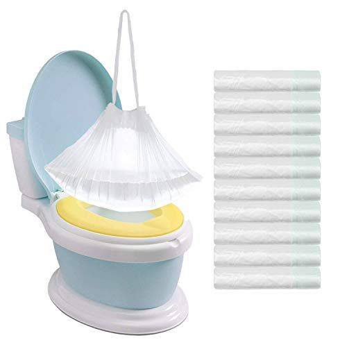 Tebery 100 Pack Portable Potty Chair Liners With Drawstring Potty Bags Potty Liners Disposable For Baby Toilet Potty Mybaby4u In 2020 Portable Potty Baby Toilet Potty Chair