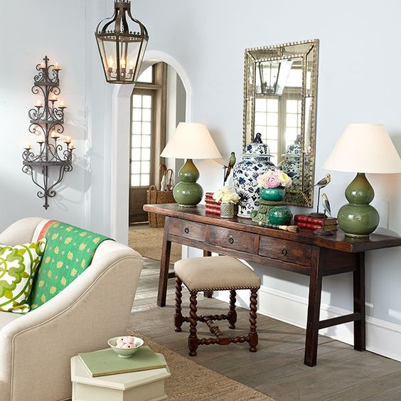 21 Fabulous Rustic Glam Living Room Decor Ideas: French Chandelier, Wisteria And
