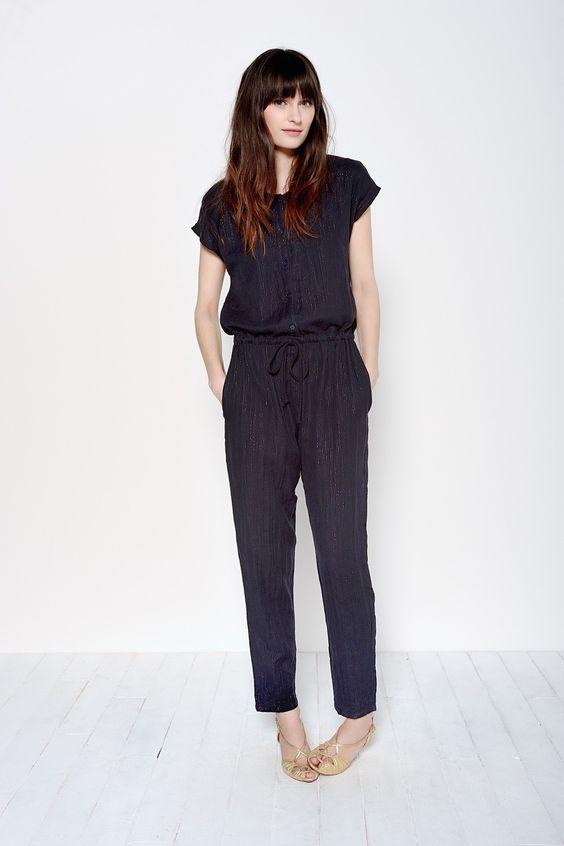 Combinaison Janette Marine - Pantalons et shorts - categories - e-shop
