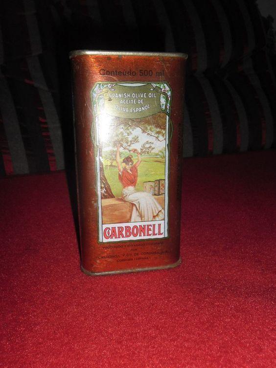 Antiga Lata Azeite Oliva Carbonell Cheia - Aproveitem - R$ 35,00 no MercadoLivre