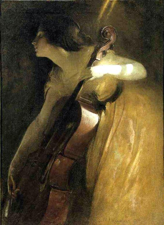 John White Alexander's Ray of Sunlight, or The Cellist, 1898
