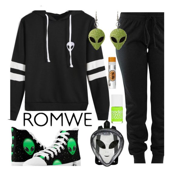 """Alien Sweatshirt"" by deborah-calton ❤ liked on Polyvore featuring Models Own and Yu-Be"