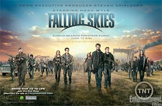 Falling Skies. a story about a family fighting aliens. sounds a little weird, but it actually pretty interesting.