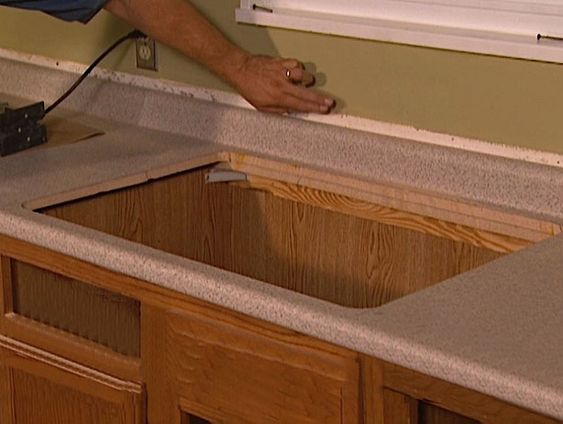 How To Install Laminate On Countertops | To Remove, Countertops