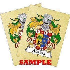 Derusso Coat of Arms Print / Family Crest Parchment 8 1/2 X 11 Inches + Free Bonus Print. $13.77
