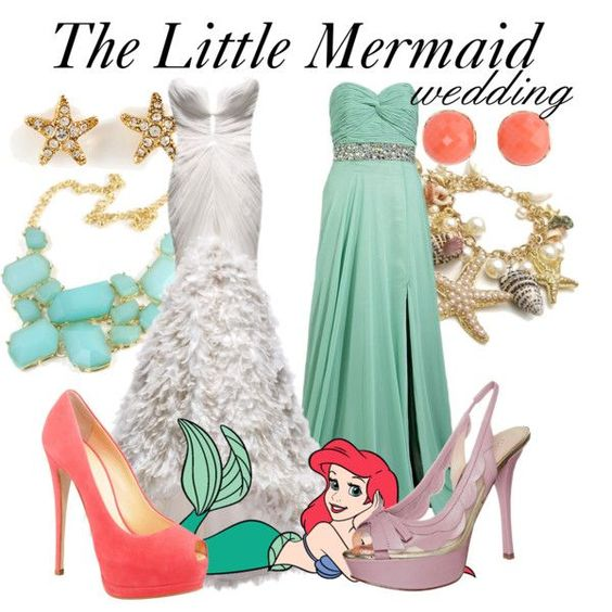 """The Little Mermaid Wedding"" by bryannnne on Polyvore... not even kidding when I say this is so me and so perfect"