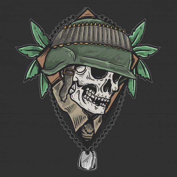 Skull veteran army zombie soldier Premium Vector | Free Vector #Freepik #vector #freedesign #freehalloween #freeflag #freeworld