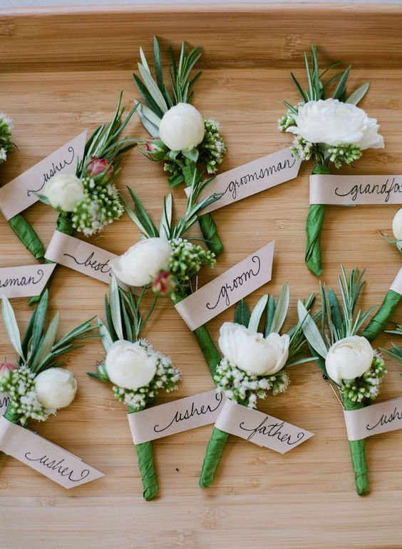 Boutonnieres                                                                                                                                                      More