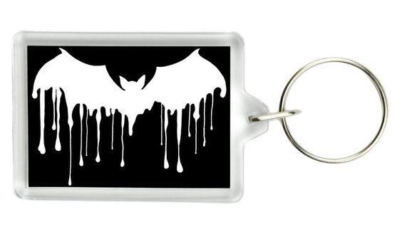 Gothic Drip Bat Keychain Vampire Deathrock Key Ring