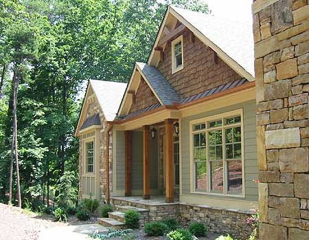 Exterior colors craftsman and style on pinterest for Rustic craftsman house plans