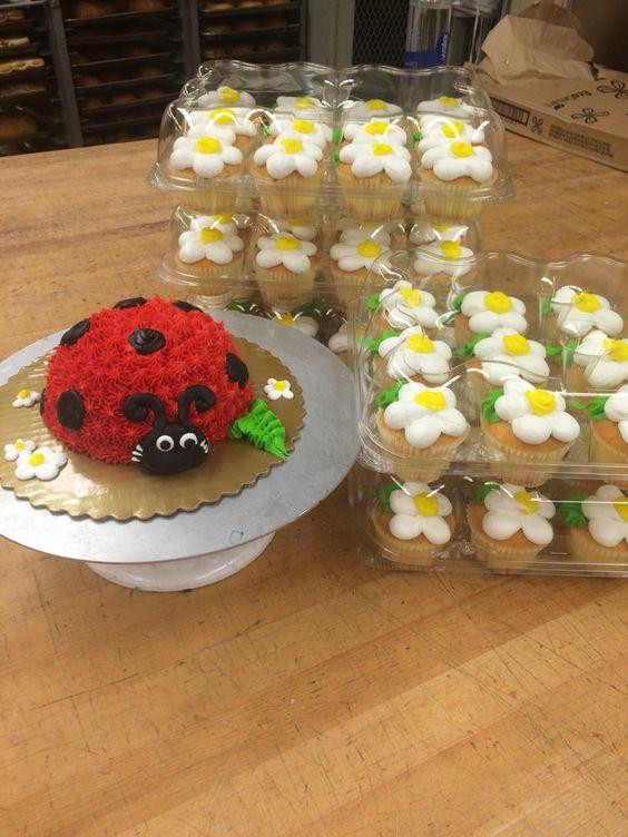 Ladybug smash cake first birthday                                                                                                                                                      More