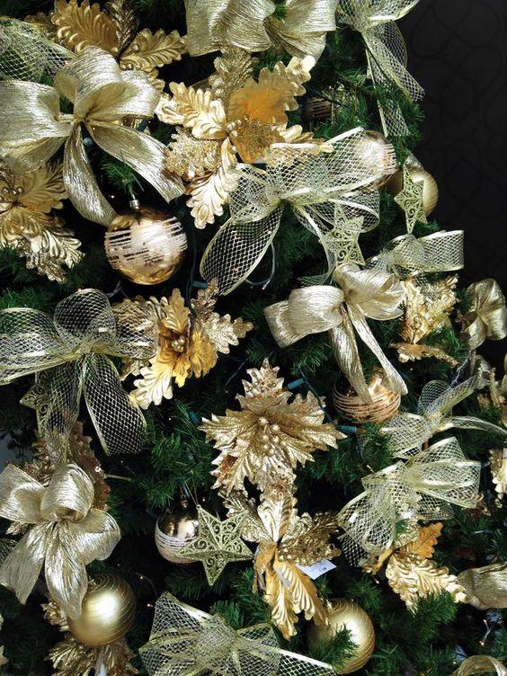decoracao arvore de natal vermelha e dourada:explore douradas bolas flores douradas e muito mais tela