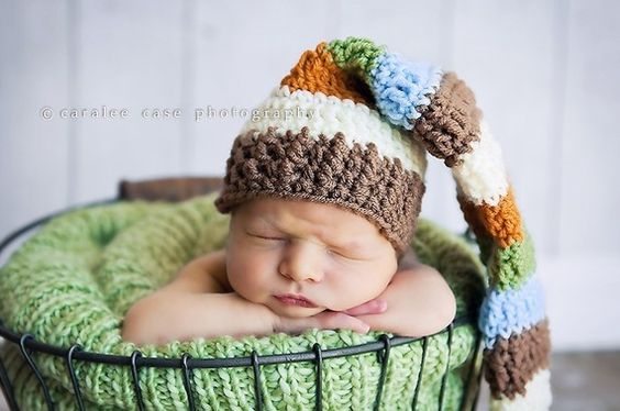 Multicolored Elf Hat by craftnikki on Etsy, $30.00
