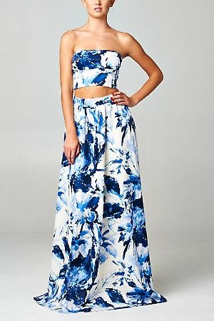Crop top and long skirt set formal – Cool novelties of fashion ...