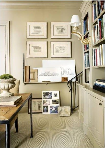 architect Stan Dixon's office from Atlanta Homes & Lifestyles **paint millwork & walls same: