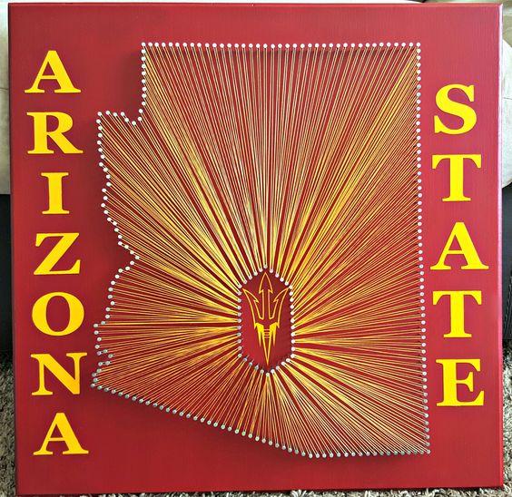 "20"" x 20"" Arizona State Sun Devils string art"