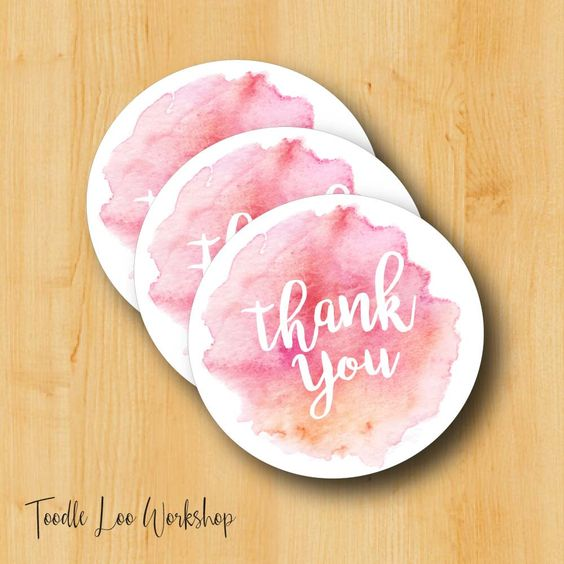 Thank You Sticker | Bridal Stickers | WeddingLabels | Wedding Stickers for Favors | Thank You Labels by ToodleLooWS on Etsy