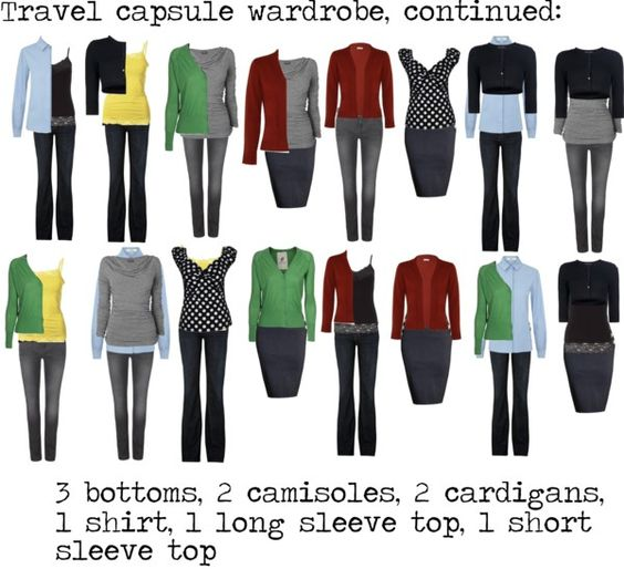 Travel capsule wardrobe continued by silverwild on for Garderobe bolero