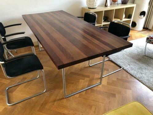 Tafel Gispen Mat Onderstel Houten Blad in 2019 Eettafel