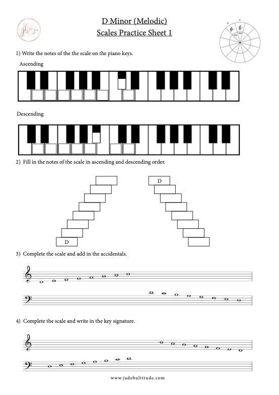 Pin On Minor Scale Worksheets