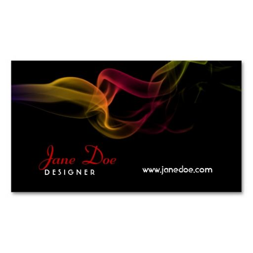 Smoke Design Business Card. Make your own business card with this great design. All you need is to add your info to this template. Click the image to try it out!