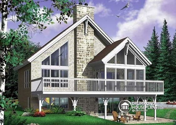 W6922 rustic cottage plan scandinavian style home with for 4 bedroom house with loft
