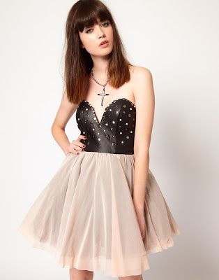 Thirty Four Disciples Stud Faux Leather Prom Dress - RM449 | Daily ...