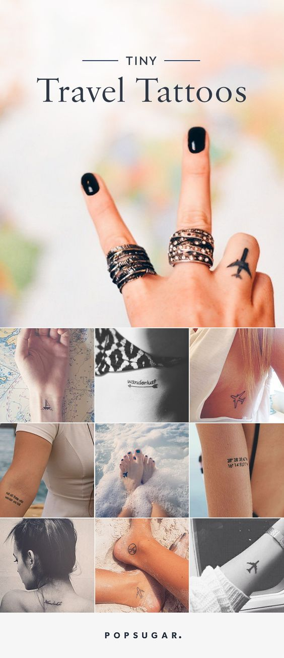 If you are a true travel-lover, these tiny travel tattoo ideas will help fuel your wanderlust and commemorate the experiences you've already had.