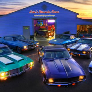 Sunset at Eric's Muscle Cars...