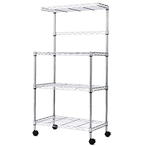 Fdinspiration 47 Microwave In Kitchen Storage Cart Bakers Rack