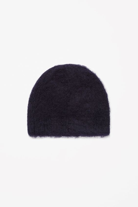 Brushed wool-mohair hat