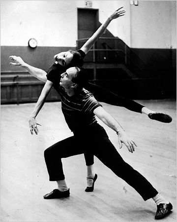 George Balanchine in 1958, when he was ballet master of the New York City Ballet, working with Maria Tallchief.