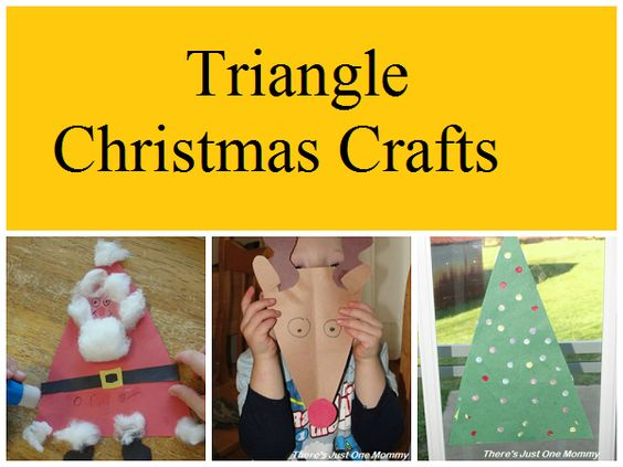 Trio of Triangle Christmas Crafts