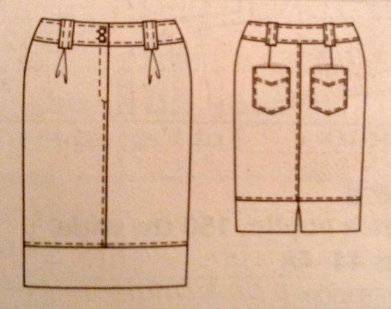 Skirt Burda plus  2/08 130