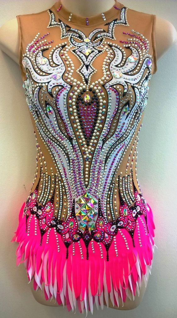 Rhythmic Gymnastic design by Olga - leotards costumes suits - Toronto - Gallery - Swarovski crystals - exclusive - show circus dance artistic