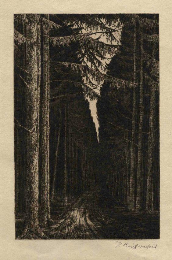 Heinrich Reiffenscheid, Der dunkle Waldweg,
