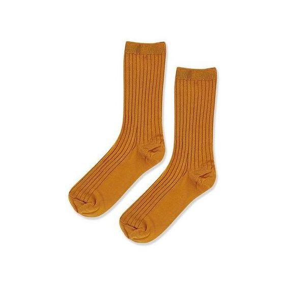 TopShop Slinky Rib Stitch Ankle Socks ($4.61) ❤ liked on Polyvore featuring intimates, hosiery, socks, mustard, ankle socks, short socks, ribbed socks, topshop socks and tennis socks