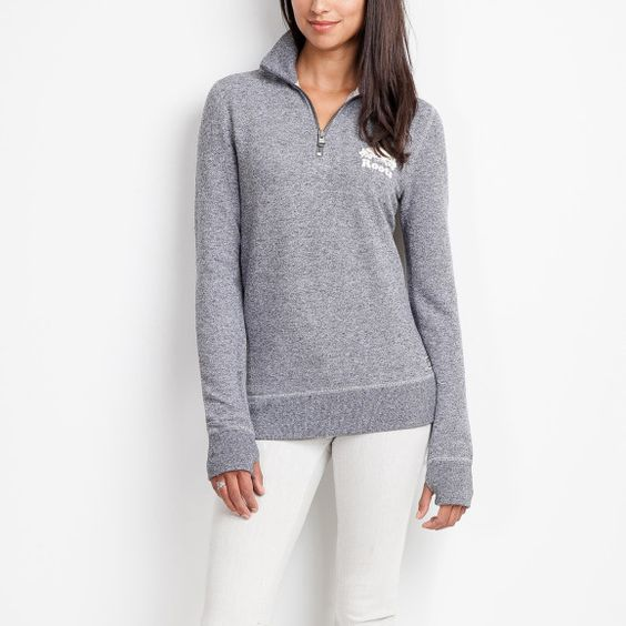 Womens Cozy Fleece Zip Stein | Roots Sweatshirts-Hoodies | Sweater ...