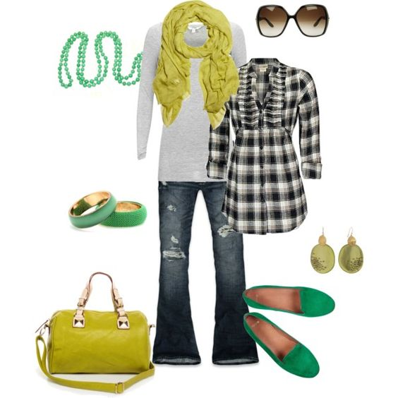 """""""greens"""" created by #htotheb on #polyvore. #fashion #style #Daytrip #mbyM"""